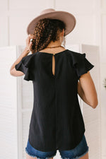 Load image into Gallery viewer, Light and Linen Top in Black
