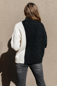 SAMPLE Mostly Dark Turtle Neck Sweater