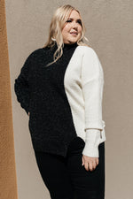 Load image into Gallery viewer, SAMPLE Mostly Dark Turtle Neck Sweater