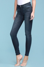 Load image into Gallery viewer, Judy Blue Skinny Mid-Rise Dark Denim - KaraMarie Boutique