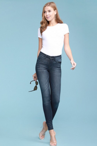 Judy Blue Skinny Mid-Rise Dark Denim - KaraMarie Boutique