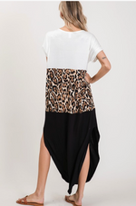 Load image into Gallery viewer, Leopard Color Block Maxi Dress - KaraMarie Boutique