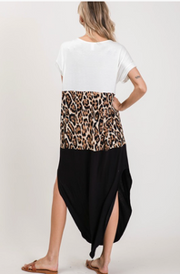 Leopard Color Block Maxi Dress - KaraMarie Boutique