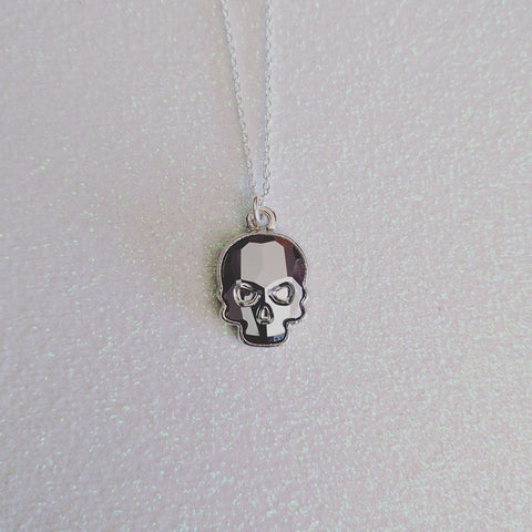 Skull Necklace - Light Chrome