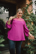 Load image into Gallery viewer, SAMPLE Straight Laced Blouse In Berry
