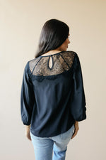 Load image into Gallery viewer, Straight Laced Blouse In Black