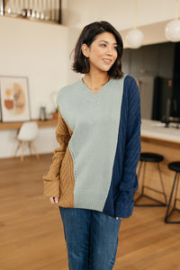 SAMPLE A Sweater With Colors in Mint