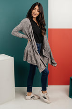 Load image into Gallery viewer, The Avalynn Heathered Cardigan in Smoky Coal