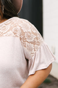 The Looking Around In Lace Top