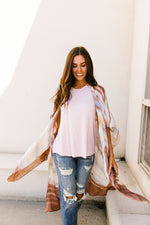 Load image into Gallery viewer, Afterglow Streaked Kimono - KaraMarie Boutique
