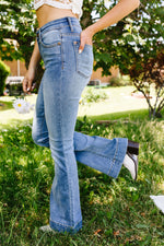 Load image into Gallery viewer, Beware The Flare Jeans - KaraMarie Boutique