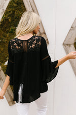 Load image into Gallery viewer, Girl In Black Blouse - KaraMarie Boutique