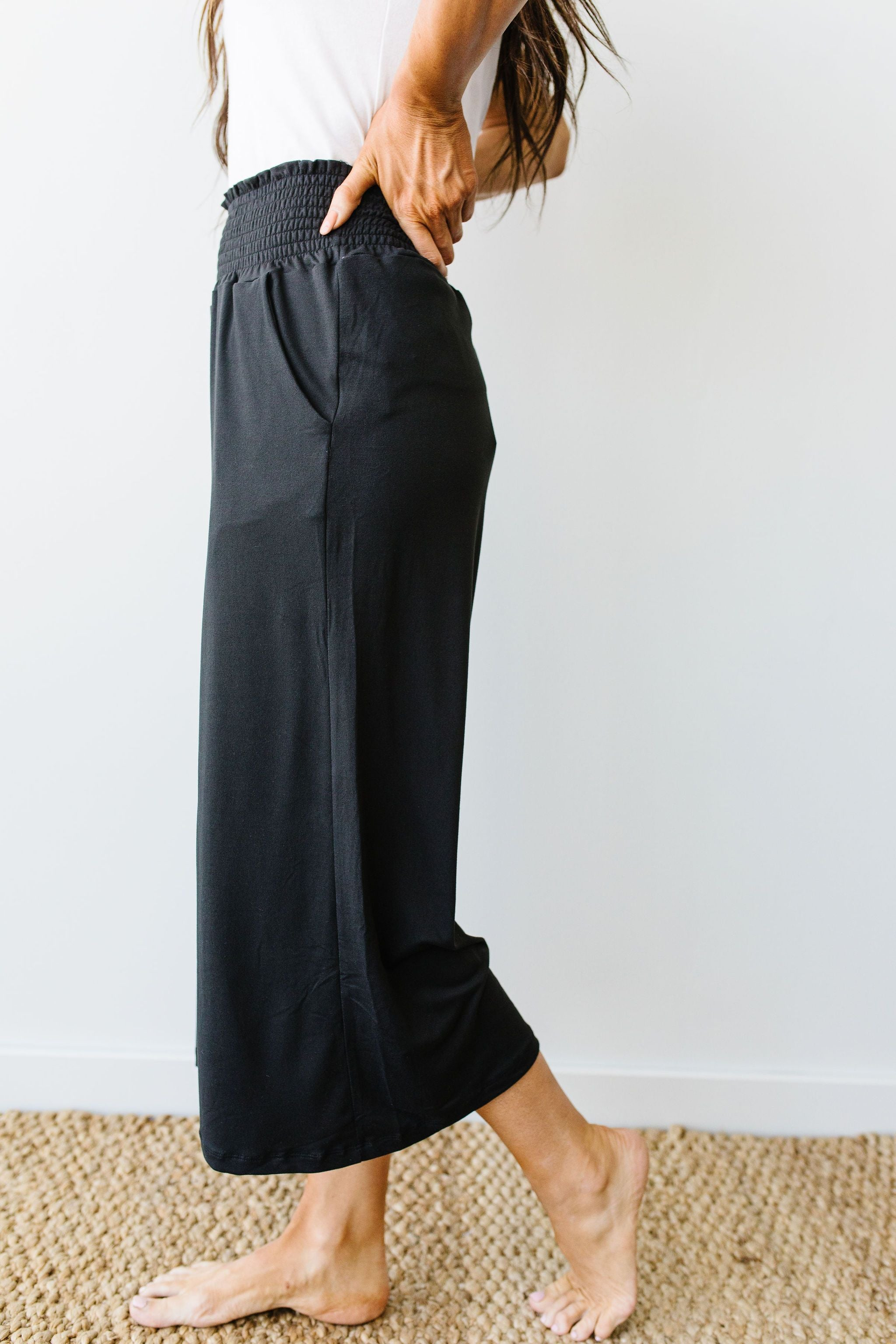 Go Get 'Em Gaucho Pants In Black - KaraMarie Boutique