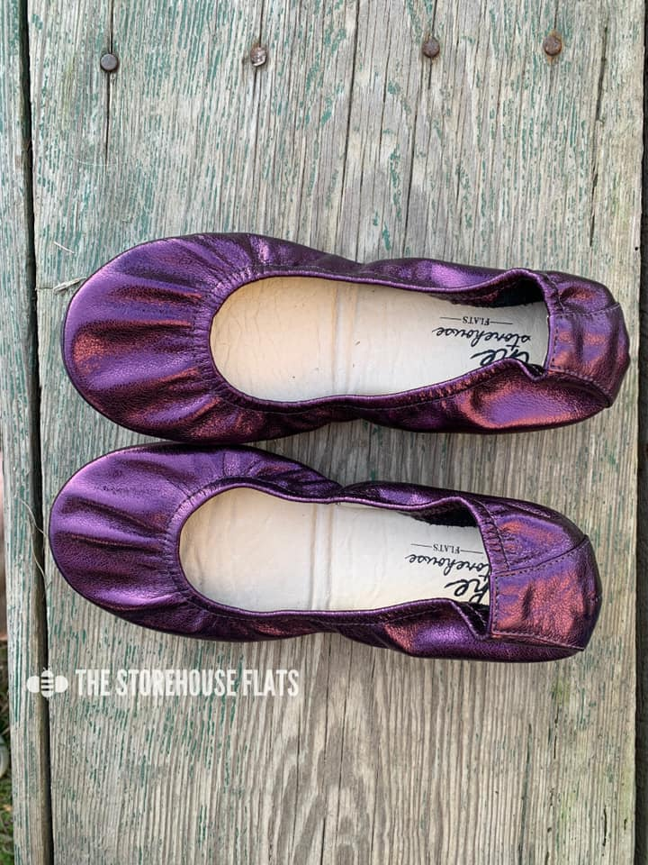 The Storehouse Flats - Black Grape Rainbow - KaraMarie Boutique