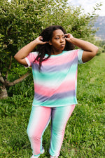 Load image into Gallery viewer, Hazy Pastel Stripes Lounge Top - KaraMarie Boutique
