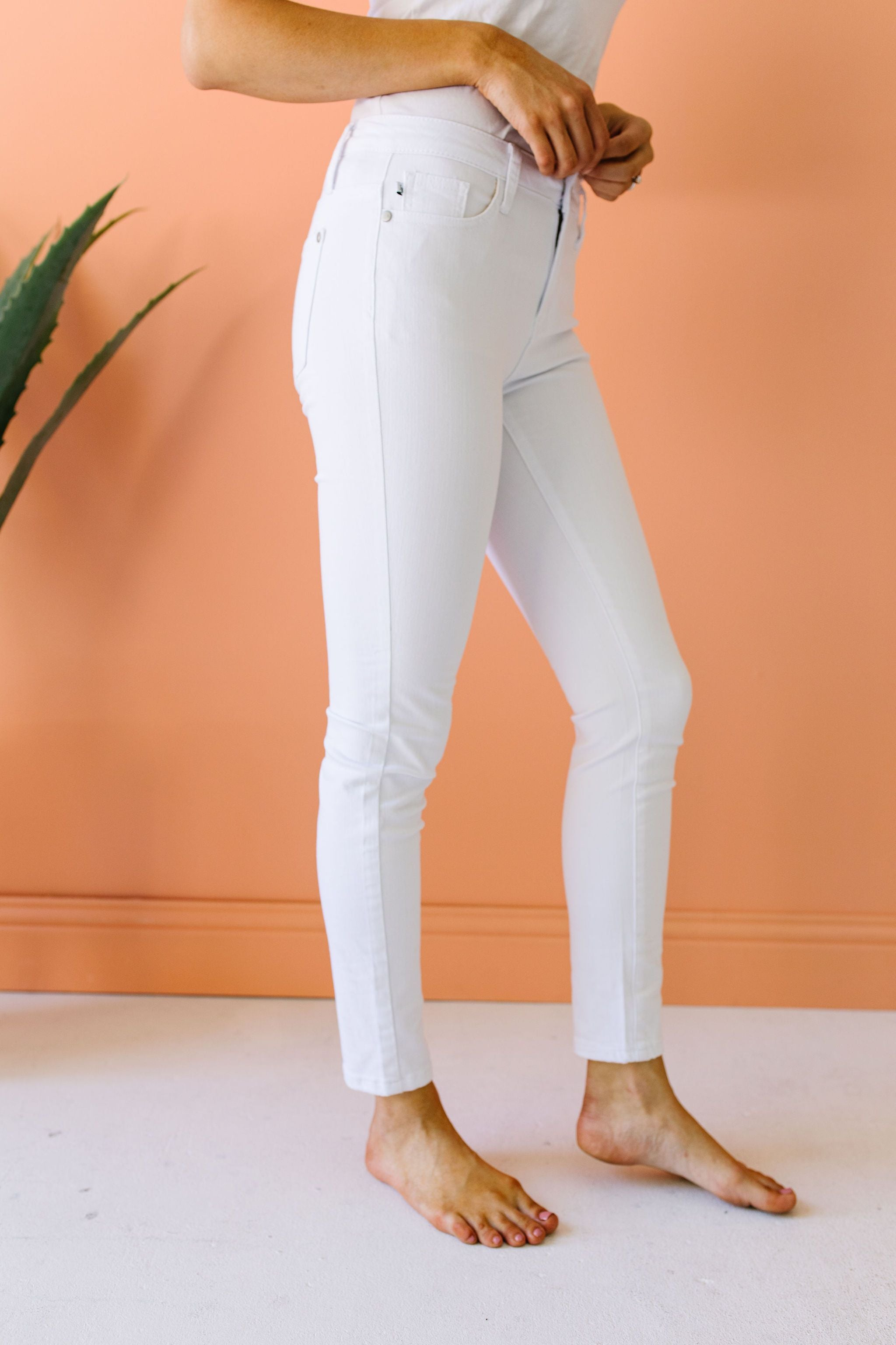 Keeping It Tight White Jeans - KaraMarie Boutique