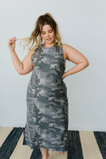 Load image into Gallery viewer, Minimum Exposure Camo Midi Dress - KaraMarie Boutique