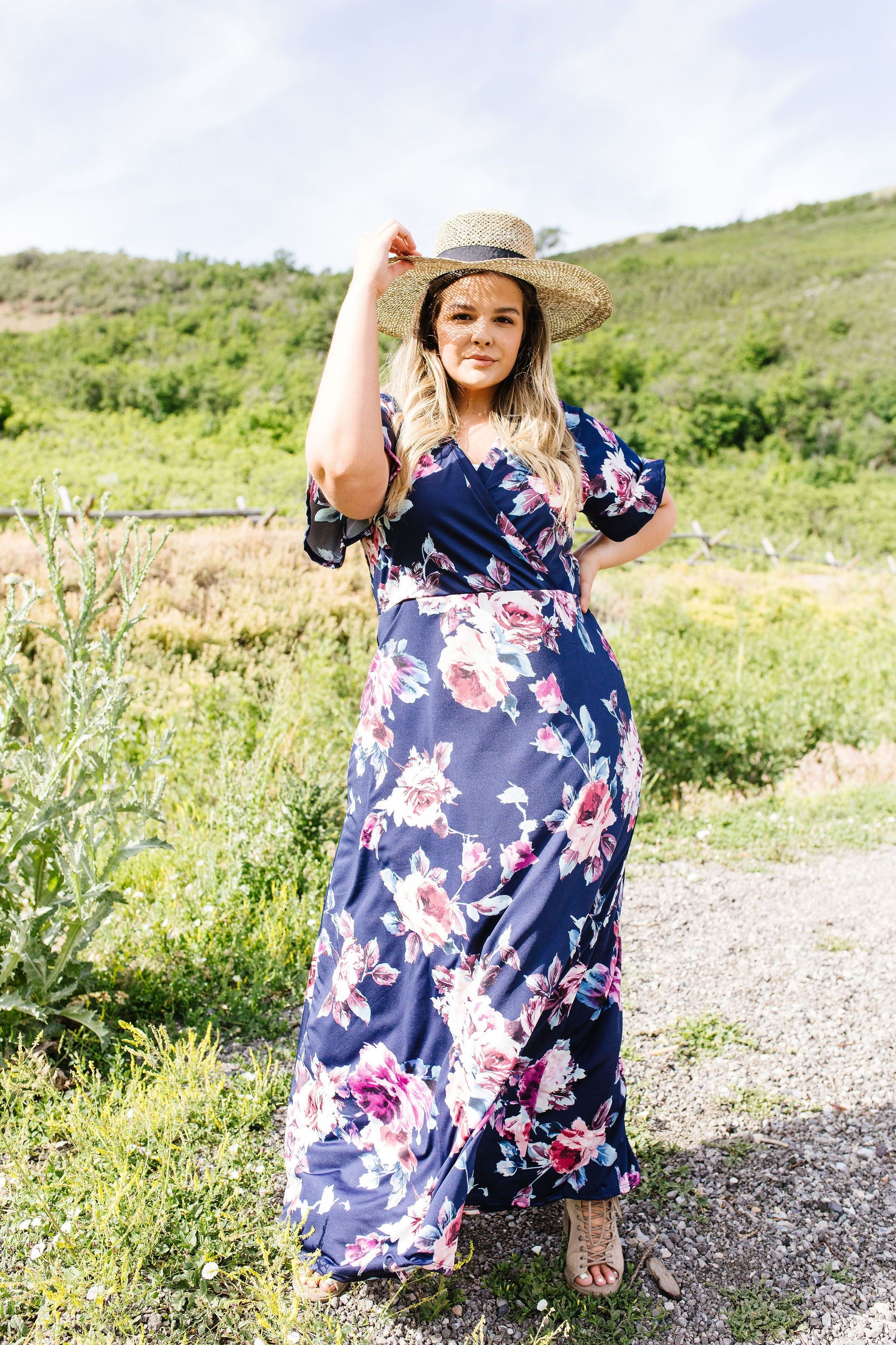 Nighttime Garden Stroll Maxi Dress - KaraMarie Boutique