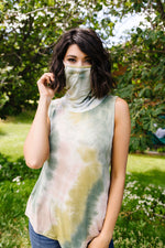 Load image into Gallery viewer, Overprotective Cowl Neck Top In Sage - KaraMarie Boutique