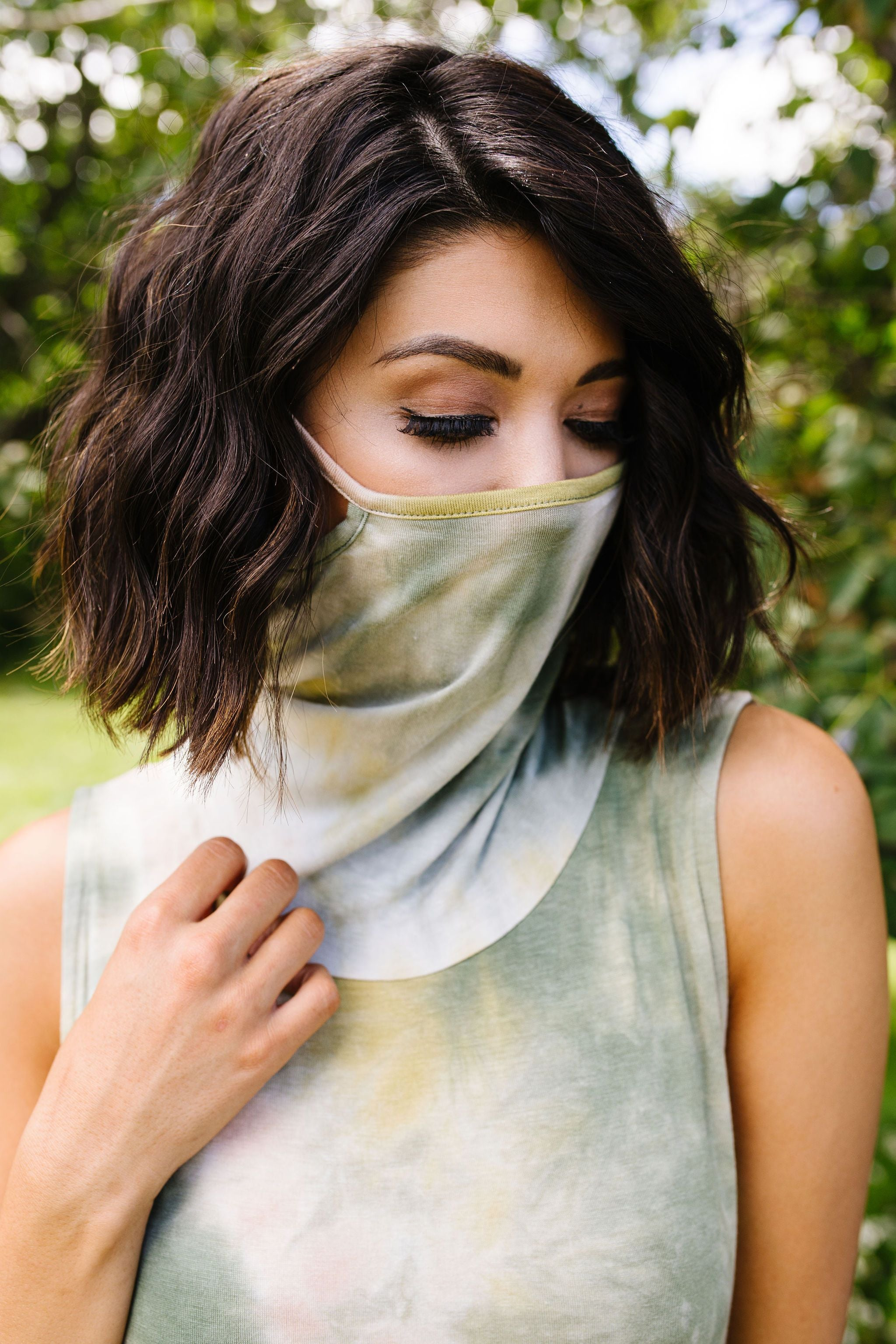 Overprotective Cowl Neck Top In Sage - KaraMarie Boutique