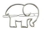 Load image into Gallery viewer, Elephant Hair Clip - KaraMarie Boutique