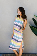 Load image into Gallery viewer, Pool Party Striped Midi Dress - KaraMarie Boutique