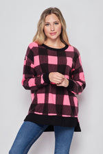 Load image into Gallery viewer, Color Me Pretty In Plaid Long Sleeve Top