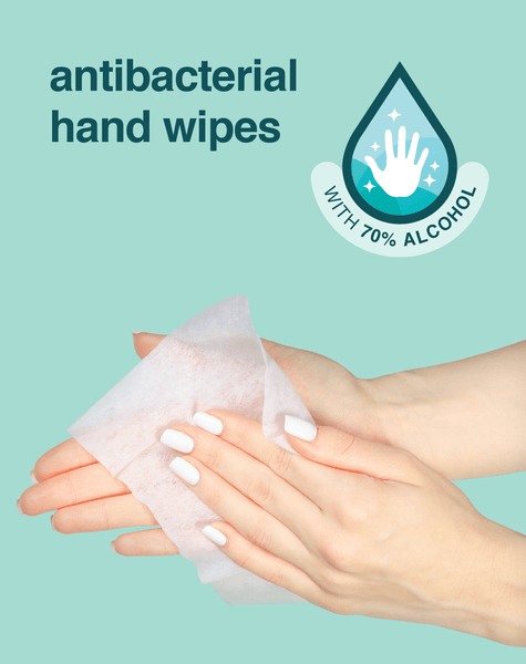 i don't want germs on my hands... antibacterial wipes