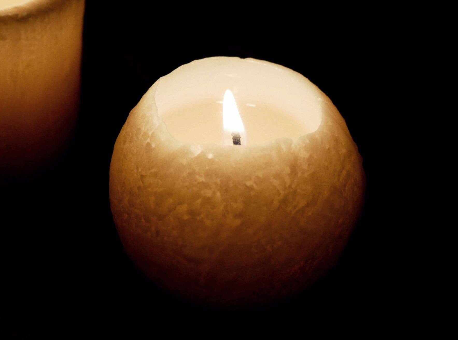 Unscented Soy Candle 【Sphere】