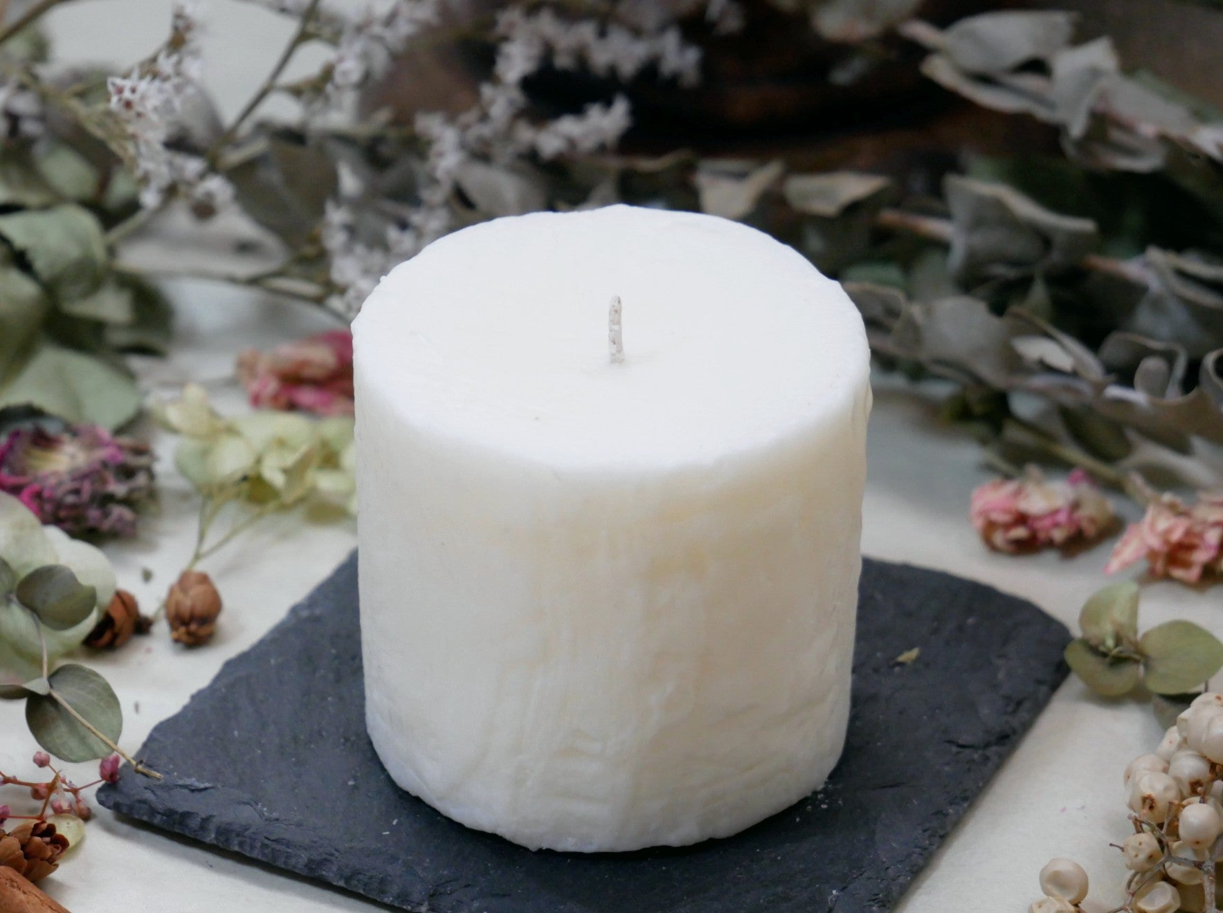 Unscented Soy Candle 【Pillar】