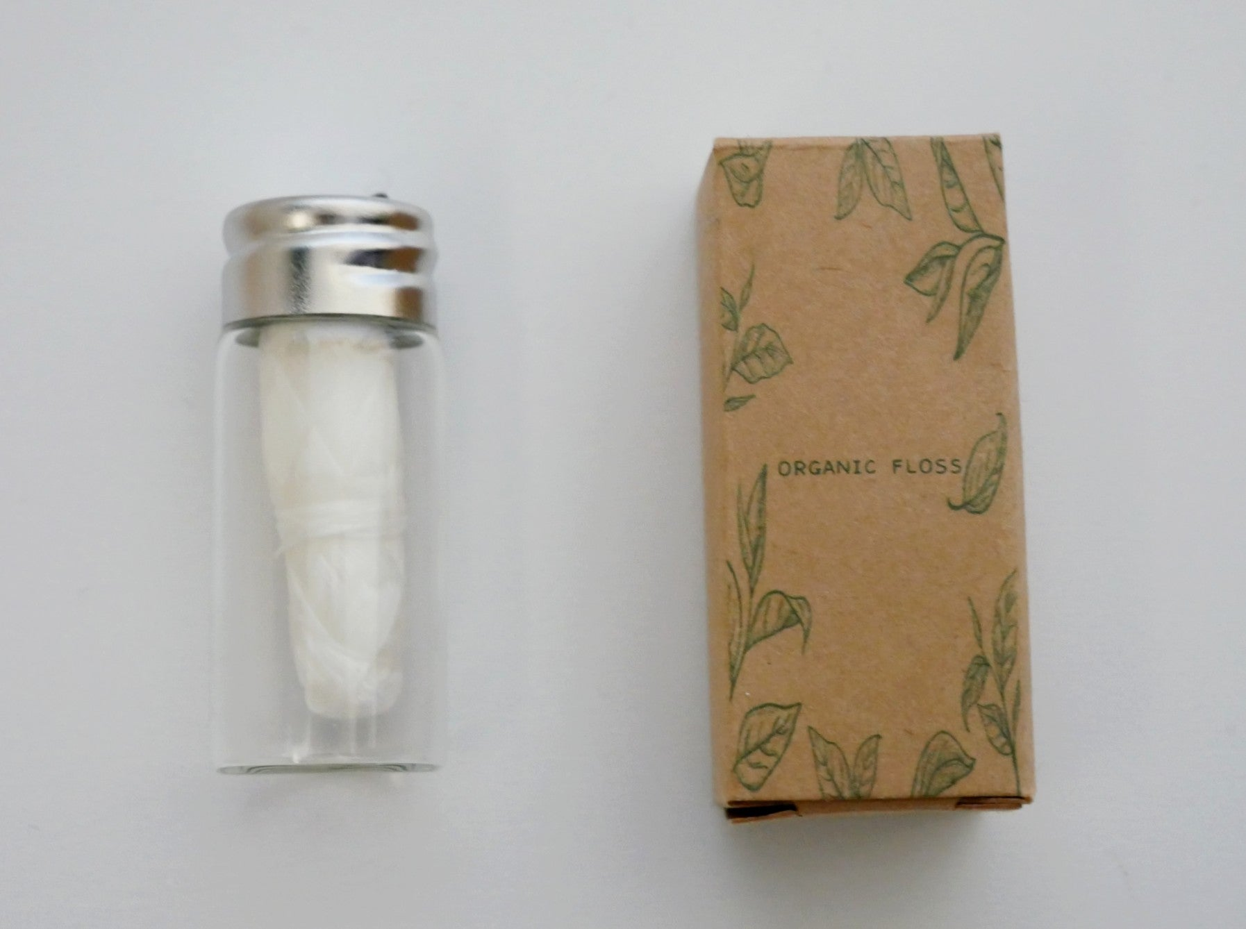 Dental Floss with Refillable Glass Jar