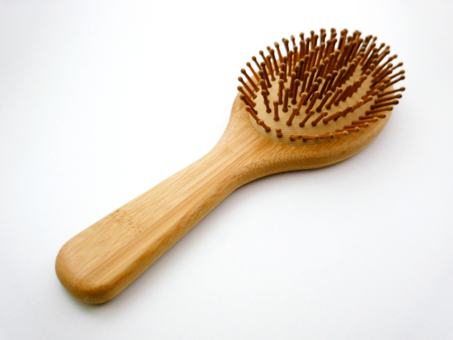 Wooden Hairbrush with Bamboo Pins (Oval)