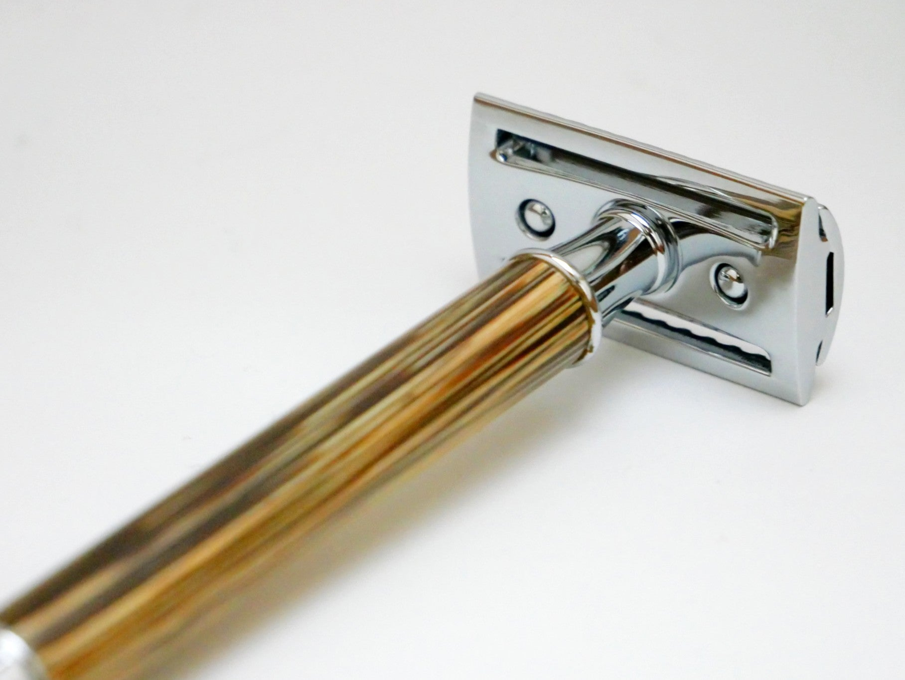 Reusable Safety Razor (Bamboo/Silver) + 10 Stainless Steel Razor Blades
