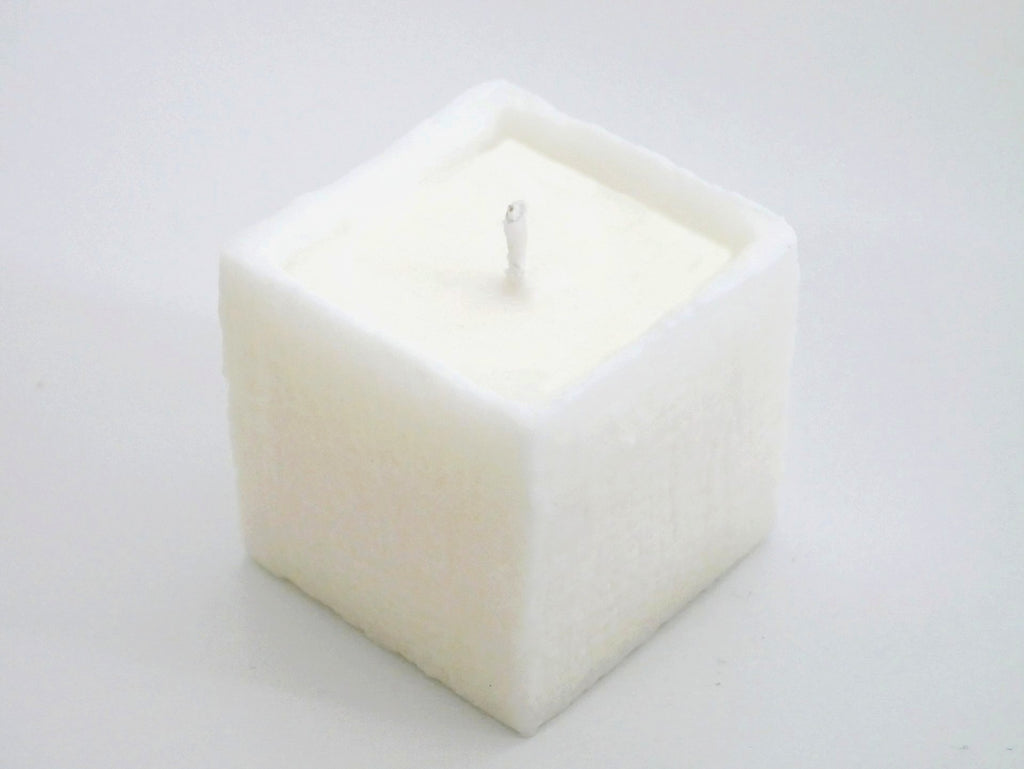 Unscented Soy Candle 【Cube】