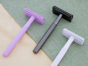 Reusable Safety Razor (Pink) + 10 Stainless Steel Razor Blades