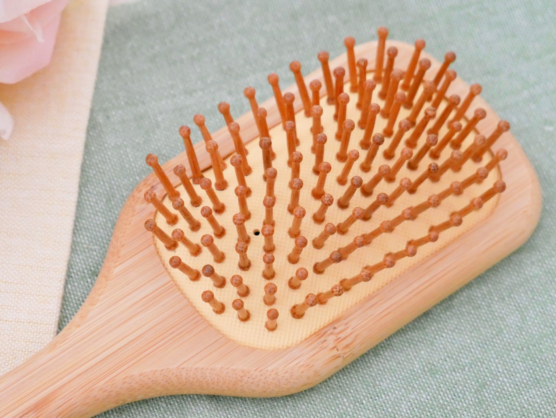 Wood Hairbrush with Bamboo Pins (Small)