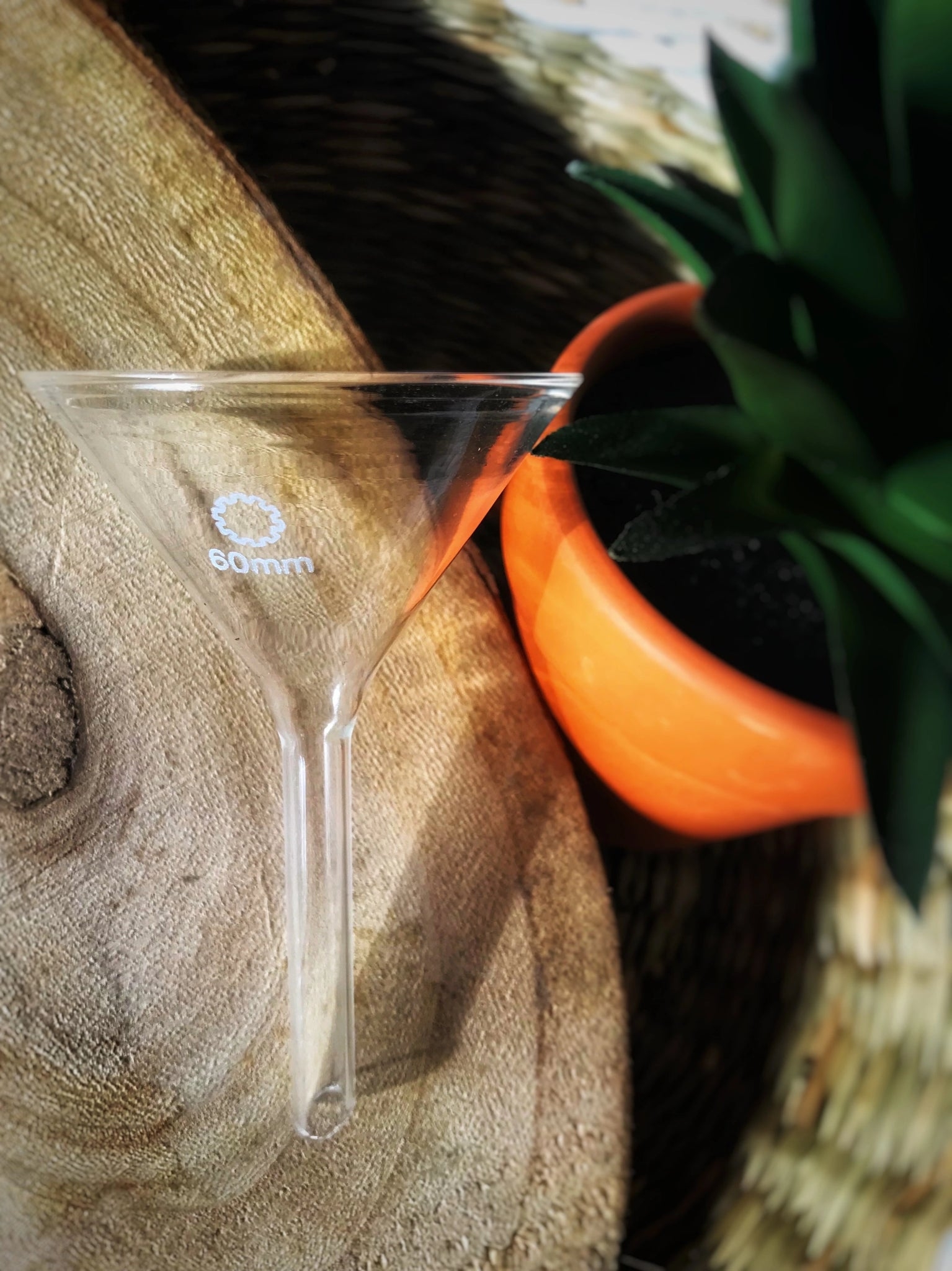 Harp Island Small Glass Funnel for Essential Oils