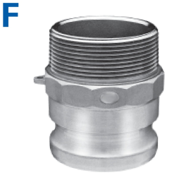 Male Coupler x Male NPT - Cam & Groove Type F Camlock Fittings
