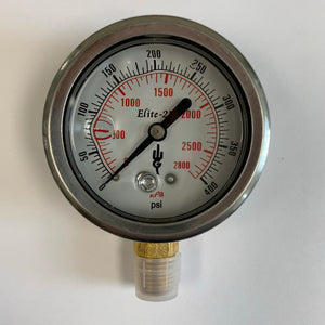 LPG Pressure Gauge -  0-400 psi Bottom Mount