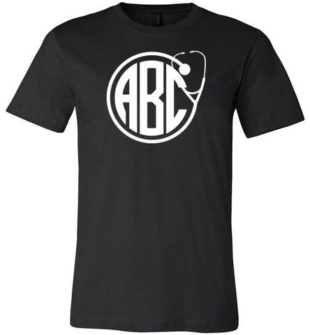 Customizable Monogram Stethoscope T-Shirt