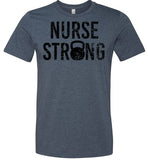 Distressed Nurse Strong Kettlebell T-Shirt