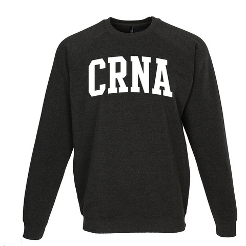 Ladies CRNA Crewneck Varsity Sweatshirt