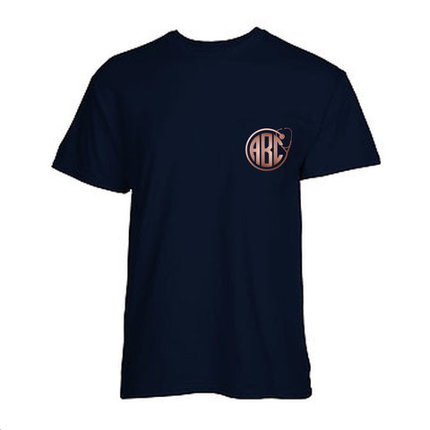 Personalized Stethoscope Monogram Pocket T-Shirt - Rose Gold Metallic