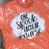 Glitter Bleach One Spooktacular Nurse T-Shirt