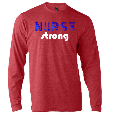 Retro Nurse Strong Long Sleeve T-Shirt
