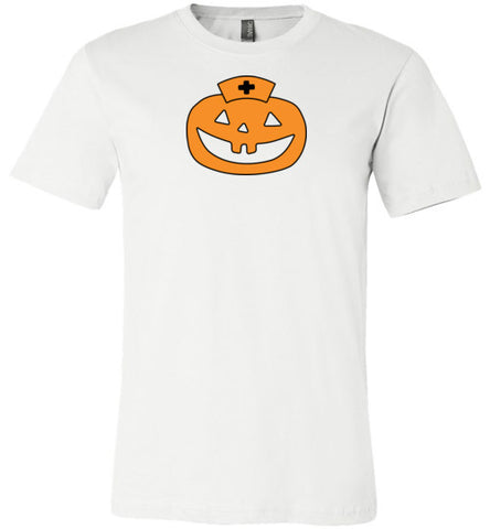 Jack O Lantern Nurse with Black T-Shirt