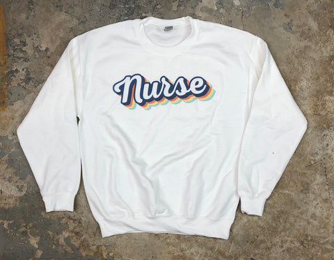 Retro Nurse Crewneck Sweatshirt