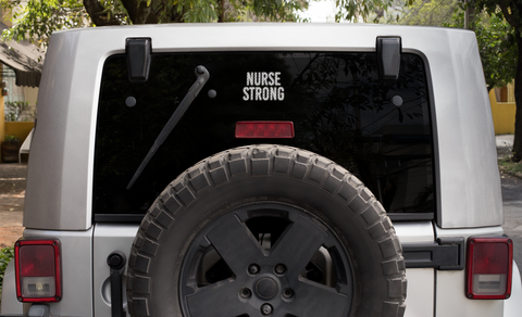 Nurse Strong Vinyl Decal