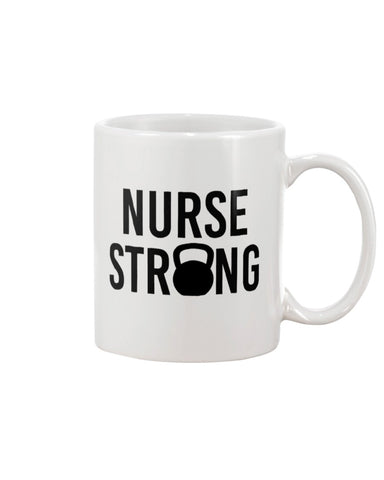 Nurse Strong Kettlebell Coffee Mug