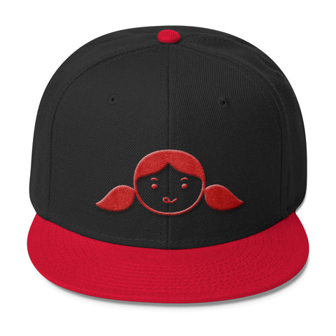Nom Nom Paleo (Red/Black) Embroidered Wool Blend Snapback